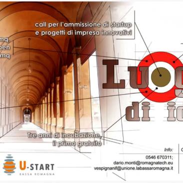 Esito della Call Incubatore U-Start Bassa Romagna - selezionate 4 startup