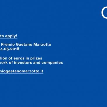 CALL 8a EDIZIONE PREMIO GAETANO MARZOTTO > LAST DAYS TO APPLY! DEADLINE 14 maggio 2018